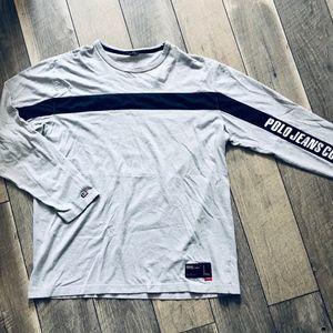 VTG Polo Jeans Co Mens Long Sleeve sz Lg